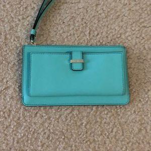 Turquoise Kate Spade Wristlet